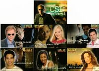 CSI Miami Series 1 Full 7 Card Cast Profiles Gold Foil Chase Set - Strictly Ink
