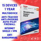Bitdefender Family Pack 2021 MULTIDEVICE 15 devices 1 year FULL EDITION Key +VPN