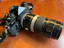 Canon F-1 Film Camera Black Body with Canon Fl 35-155mm Lens in good condition