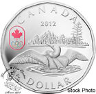 Canada 2012 $1 Lucky Loonie with Olympic Logo Silver Coin