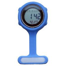 Digital multi fonction BLEU infirmières/BROCHE/tunique/FOB/Poche/Silicone Watch