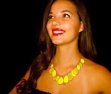 RARE! Kate Spade FLO YELLOW Crystal Petal Pusher Bib Necklace DRAPED FACET GEMS