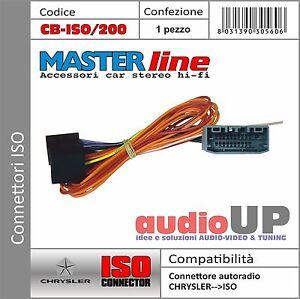 CONNETTORE AUTORADIO ISO ORIGINALE PER CHRYSLER 300 DAL 2008 IN POI.