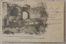 """CPA """" CUBZAC LES PONTS - Ruines de l'Ancien Chateau des 4 Fils Aymon"""