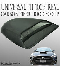JDM 100% Real Carbon Fiber Hood Scoop Vent Cover Universal Fit Racing Style Y15