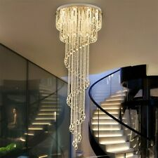 Dimmable LED Modern K9 Clear Crystal Ceiling Light Pendant Lamp Chandelier #6618