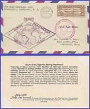 US #C14 ADDR FACSIMILE FDC   Graf Zeppelin