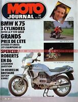 MOTO JOURNAL  713 Essai Road Test BMW K75 K75 S K75 C K 75 K75S K75C GP SPA 1985