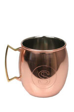 Jodhpuri 20 oz Moscow Mule Mug Initial Letter S Copper Brass Handle Monogram Cup