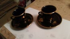 2 x 24k Gold Greek Cup and Saucer. Hand Made in Greece