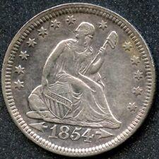 1854 (XF) 25C SEATED LIBERTY QUARTER