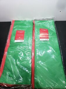 Hallmark - Green & Red Tissue Paper - 40 Count - Lot of Two Packages