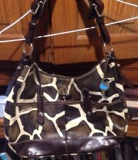 DOONEY & BOURKE Giraffe Pattern Purse Handbag Satchel