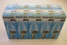 PHILIPS 10 X BOMBILLA VELA E14 40W TRANSPARENTE