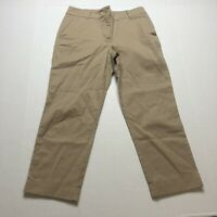 Talbots Heritage Fit Tan Cropped Pants Size 4P A1815