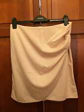 New! Nude Drape Ruched Zip Up Mini Skirt - Size 12
