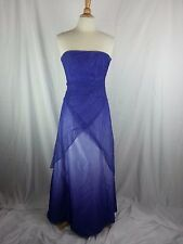 Prom Dress Sz 9 / 10 Bling Strapless Shiny Purple Formal USA Jump Apparel EUC