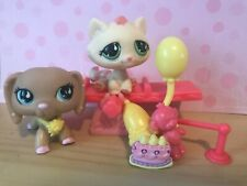 ~ Authentic Littlest Pet Shop Lps Dachshund #909 Tabby cat #914 Pink Polka Dot ~