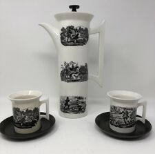 Portmerion Pottery Stoke On Trent England Tea Pot & Cups Susan Williams-Ellis