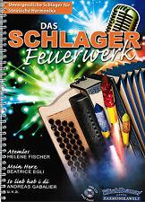 Steirische Harmonika Noten : Das Schlager Feuerwerk -  m. CD Griffschrift LEICHT