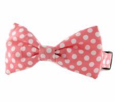 Bubble Gum Dot Bow Tie Dog Collar