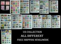 Used US Stamp Collection Including Some great Mints, All Different Free Shipping
