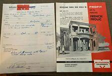 MR1198:McFadden Amusements Fabulous French Frolic Amusement Ride Flyer & Bills