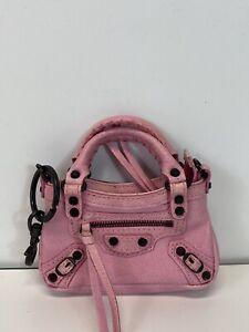 Rare Vtg Balenciaga Micro Mini Pink City Bag
