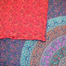 "Reversible Cotton Duvet Cover Sanganer Mandala Block Print Queen King 106"" x 96"""