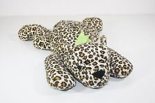 Ty Pillow Pals LEOPARD Green Satin Bow SPECKLES Plush Stuffed Animal Toy