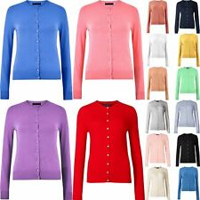 Women H&M Button Up Cardigan Knitted Round Neck Long Sleeve Tops Ladies UK 6-24