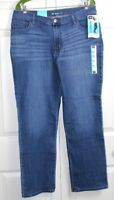 Lee Womens Meridian Straight Leg At the Waist Jeans 14 Short Relaxed Fit NWT