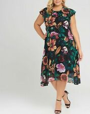 TS Taking Shape Floral Fully Lined With Stretchy Slip Jodie Party Dress Size 18
