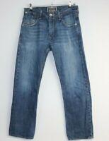 Levi's Men's Slim Straight Button Back Pockets Blue Denim Jeans Size 33