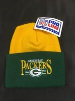 VTG 80's Authentic Pro Line Green Bay Packers NFL Beanie Made In The USA NWT'S