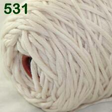 Sale New 1 Cone x 400g Soft Baby Cotton Chunky Super Bulky Hand Knitting Yarn 31