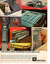 1969 PORSCHE / MGB / TRIUMPH / CORVETTE ~  NICE ORIGINAL AMCO AD