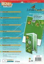 DECADRY oci-4756 3 PIEGA cartolina illustrazione stampa A4 compiere le proprie carte