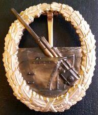 ✚5493✚ German Kriegsmarine Coastal Artillery War Badge after WW2 1957 pattern