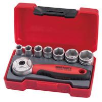 "Teng Tools T1408 1/4"" Drive 8 Piece Mini Metric Socket Set with Stubby Ratchet"