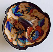 Candy Trinket Dish Art Deco Dutch Gouda Faience Ceramic Pottery Signed Holland