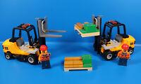 LEGO® City 60198 Eisenbahn 2x Gabelstapler  Geld Gold Doller Palette und Figuren