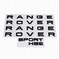 RANGE Rover Gloss Nero Sport HSE 3M lettere bagagliaio portellone posteriore Emblema Logo