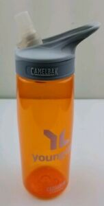 CamelBak Eddy .75L 25 Oz. Orange Water Bottle, Young Life Logo Pre-owned