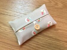 Handmade Packet Tissue Holder Made With Cath Kidston Floral Spot Stone Fabric