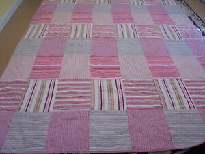 Nice Pink Striped Big Block Quilt