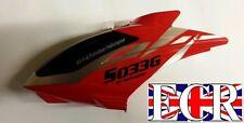 Rojo Toldo cabeza Cuerpo Syma S033 s033g RC Helicopter piezas de repuesto