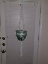 Macrame Plant Hanger, Retro Hanging Plant Holder, Indoor and Outdoor Air Hanging