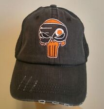 Philadelphia Flyers Distressed Black Ball Cap Cotton Mesh Hat Flyers Punisher