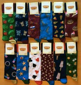 Mens BAMBOO Novelty Socks UK SIZE 6-11 - Funny / Food / Animals / Birthday Gift